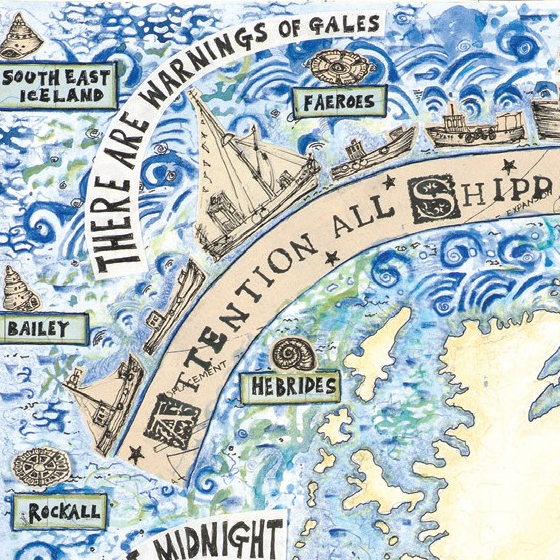 The Shipping Forecast a card copyright Fiona Willis