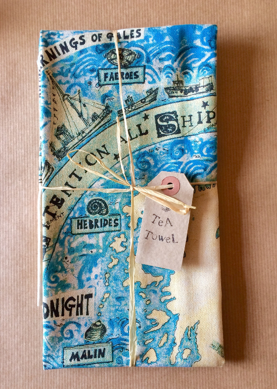 The Shipping Forecast a tea-towel copyright Fiona Willis
