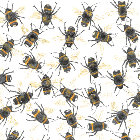 Bees. A design by Fiona Willis (c) 2019