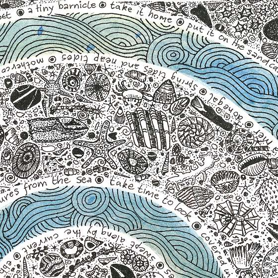 Sea Spiral, a print by Fiona Willis (c)