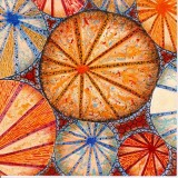 Orange Circles, a card by Fiona Willis