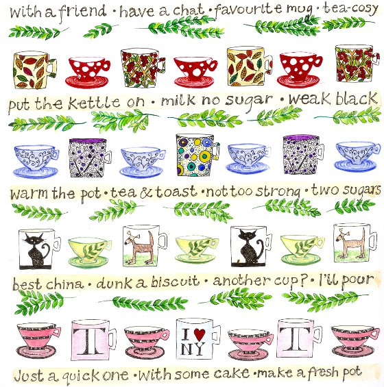 A Cup of Tea, a card by Fiona Willis