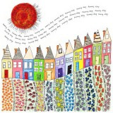 Sunny Day Terrace, a card by Fiona Willis