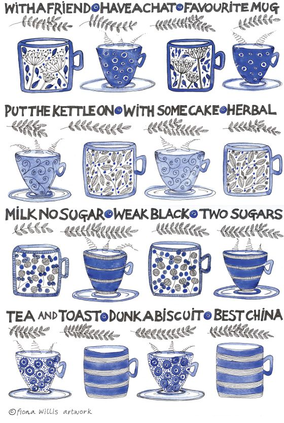 Cup of Tea Tea-Towel