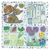 A Year in the Garden - Snails. A card design (c) Fiona Willis